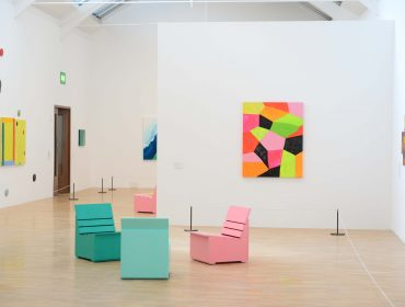 Mary Heilmann installation shot at Whitechapel Gallery 2016