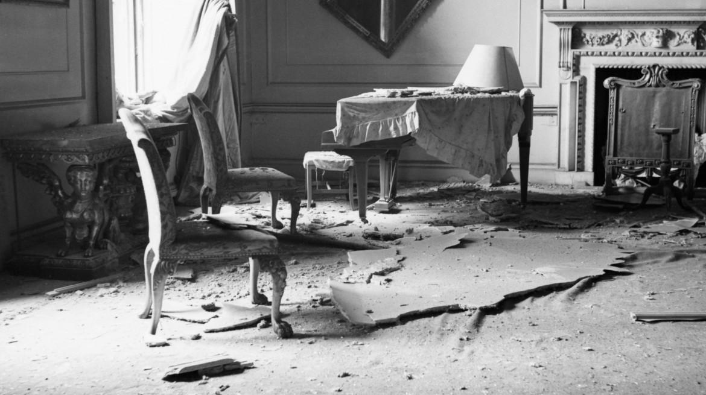 Bombed Downing Street