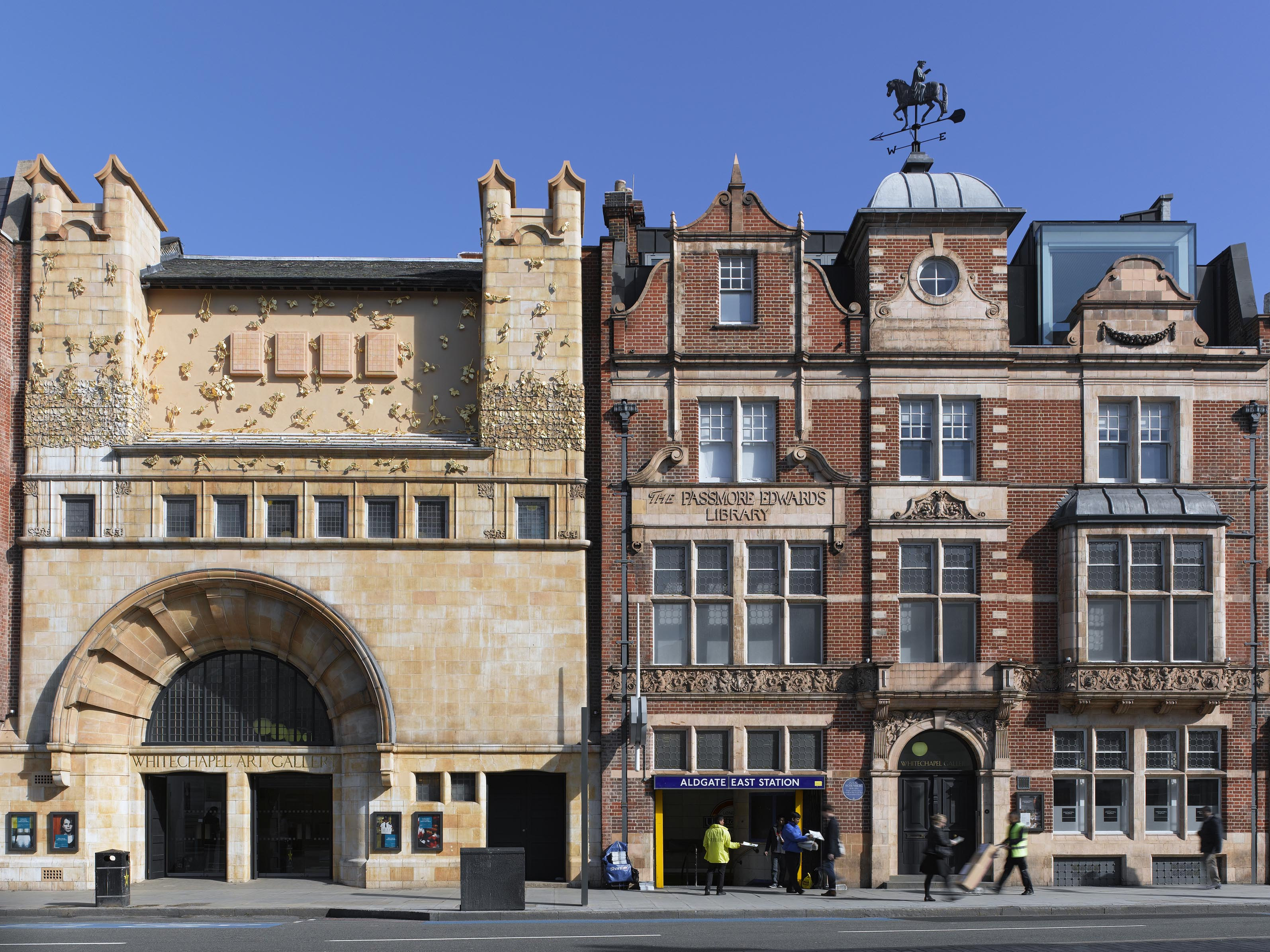 Whitechapel Gallery facade, with the Tree of Life by Rachel Whiteread.