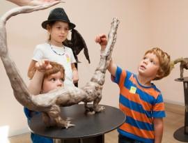 Francis Upritchard with kids