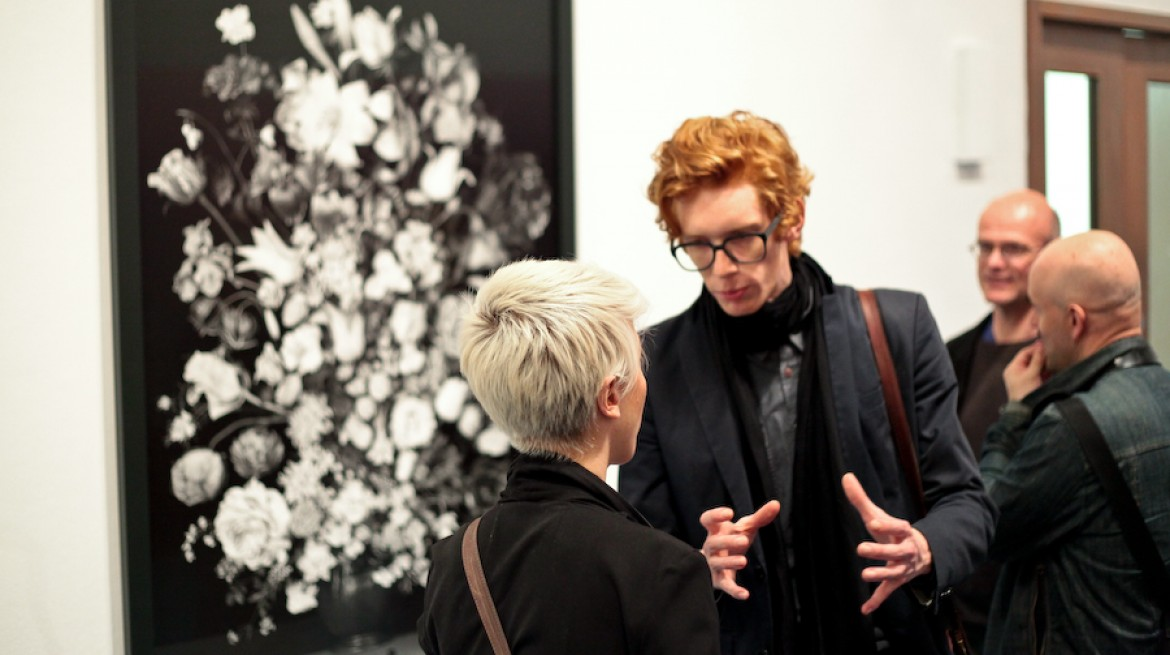 MA Curating the Contemporary, Alumnus Niekolaas J. Lekkerker and Nora Belovai at Gillian Wearing preview, Whitechapel Gallery