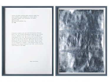 Peter Liversidge, Proposal for Whitechapel Editions (2013)