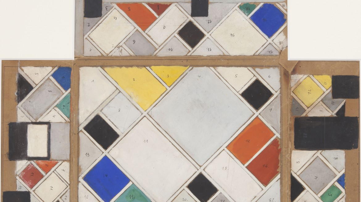 5Feb-BrionyFer-Theo-Van-Doesburg-Colour-Design-for-ceiling-and-three-walls-1926-1927