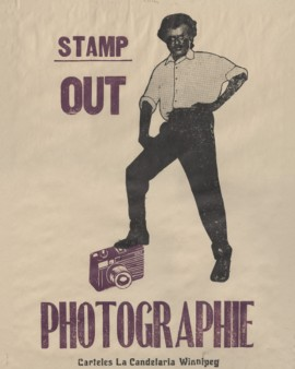 Archive of Modern Conflict. Stamp Out Photographie 2012. Block print on paper
