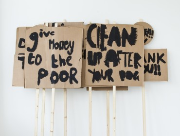 Peter Liversidge: Notes on Protesting 2014