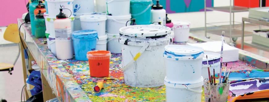 The studio of Michael Craig-Martin. Photo: Maryam Eisler, courtesy TransGlobe Publishing Ltd