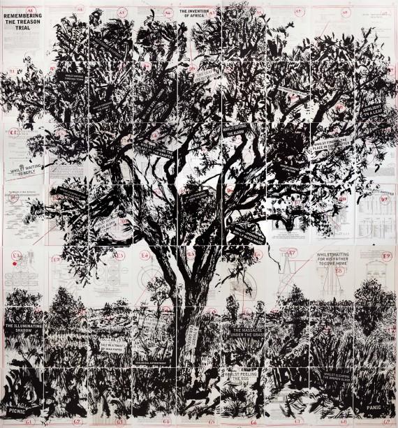 William Kentridge, Remembering the Treason Trial (2013), Courtesy Marian Goodman Gallery, © William Kentridge.