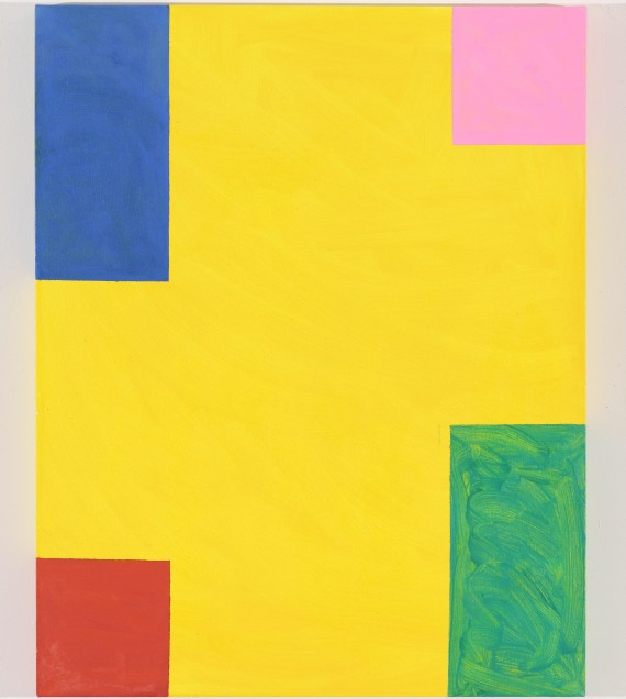 Mary Heilmann, Taste of Honey (2011), Oil on canvas, 30.25 x 24 in, © Mary Heilmann, Photo credit: Thomas Müller, Image courtesy of the artist, 303 Gallery, New York and Hauser & Wirth.