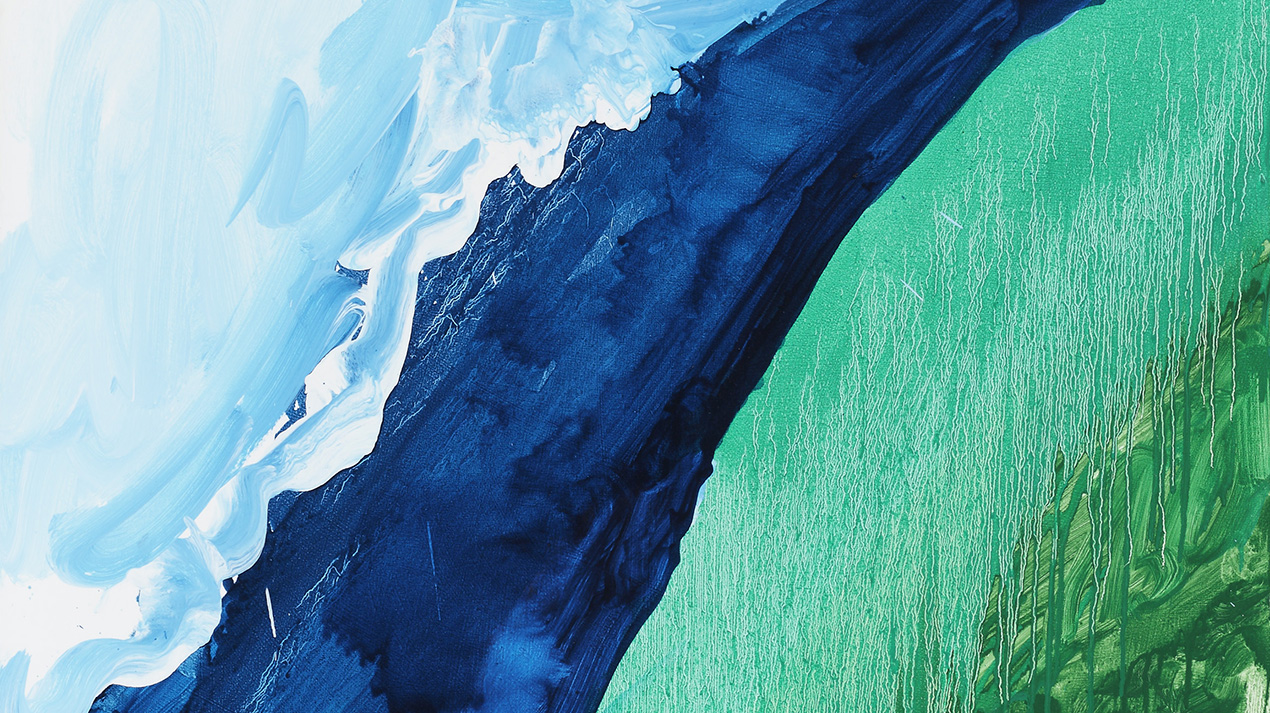 Mary Heilmann, Crashing Wave, 2011 (detail), Oil on canvas, 127 x 101.60 cm, © Mary Heilmann, Photo: Thomas Müller, Courtesy of the artist, 303 Gallery, New York, and Hauser & Wirt