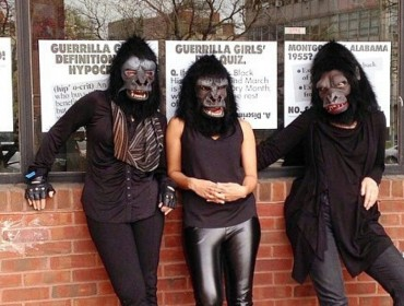 Kathe Kollwitz, Zubeida Agha and Frida Kahlo of the Guerrilla Girls, New York 2015, Photo courtesy the Guerrilla Girls