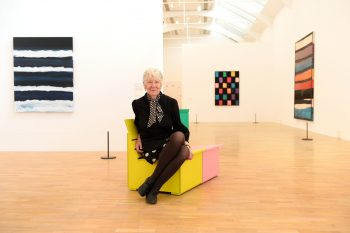 Artist Mary Heilmann at the press view of the Mary Heilmann: Looking at Pictures exhibition, at the Whitechapel Gallery in east London. PRESS ASSOCIATION Photo. Picture date: Tuesday, 7 June 2016. The exhibition, the first major UK survey of the American artist, runs from 8 June - 21 August 2016. Photo credit should read: Matt Crossick/PA Wire