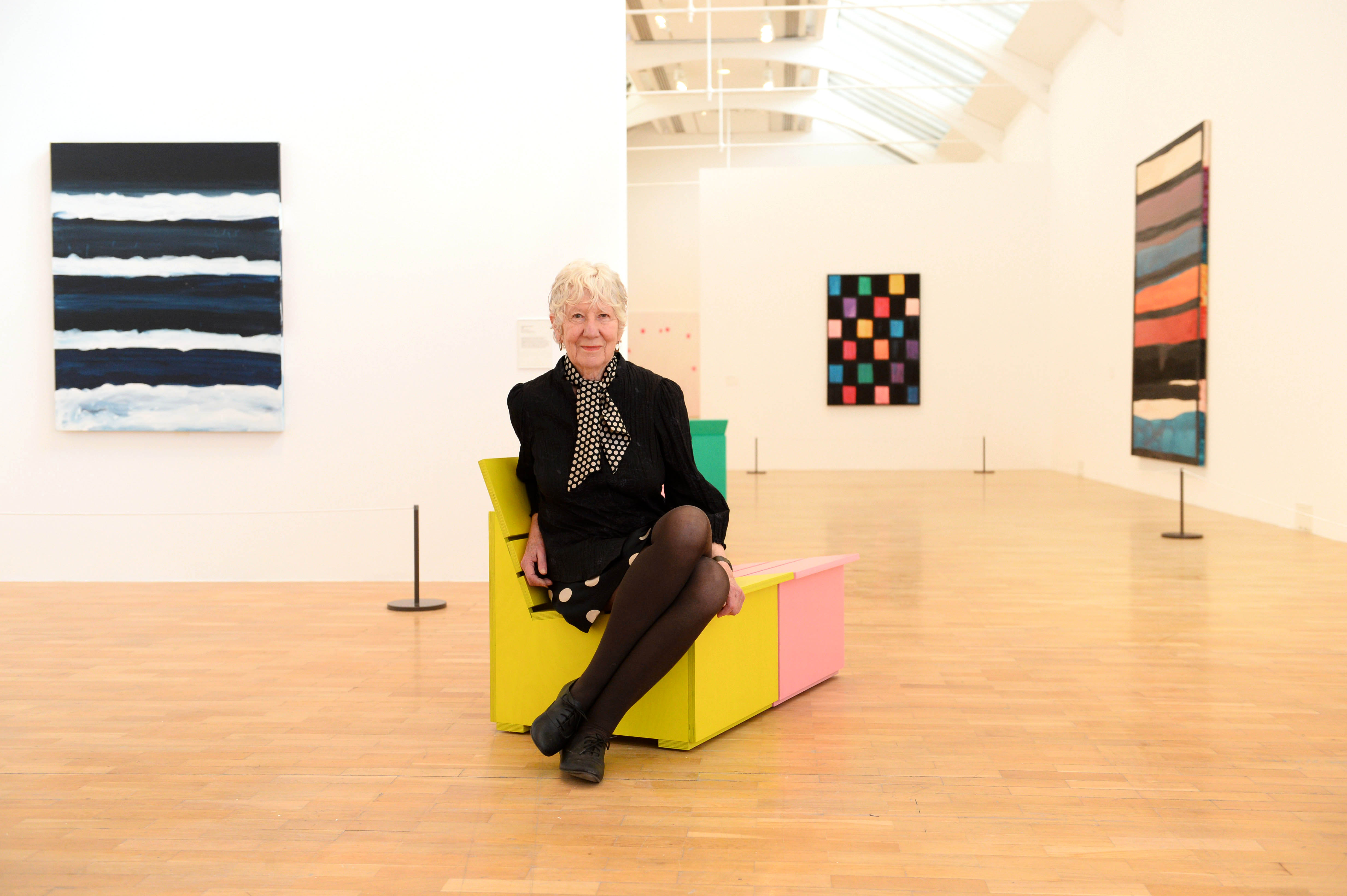 whitechapel gallery the artists gallery for everyone artist mary heilmann at the press view of the mary heilmann looking at pictures exhibition