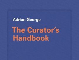 A blue book cover with white and orange font.