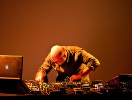Hassan Khan Live at Portikus, Frankfurt, 2015, Photo by Helena Schlichti…