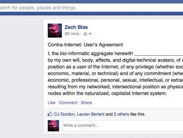 Zach Blas, Facebook, 2015, courtesy the artist
