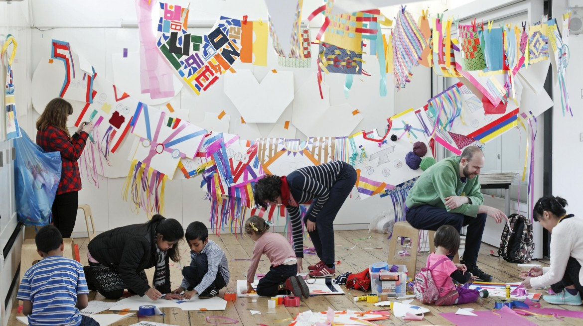 Families at the Whitechapel Gallery Family Day