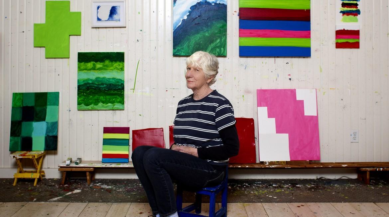 Mary Heilmann portrait. Photo by Philip Mauro