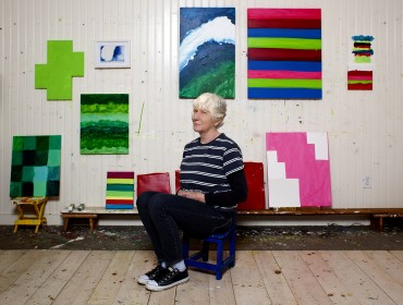 Mary Heilmann portrait. Photo by Philip Mauro