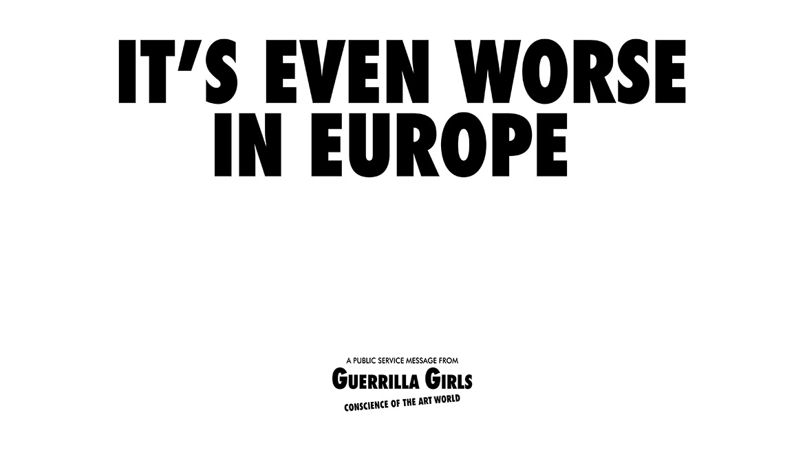 Guerrilla Girls Poster for the Whitechapel Gallery