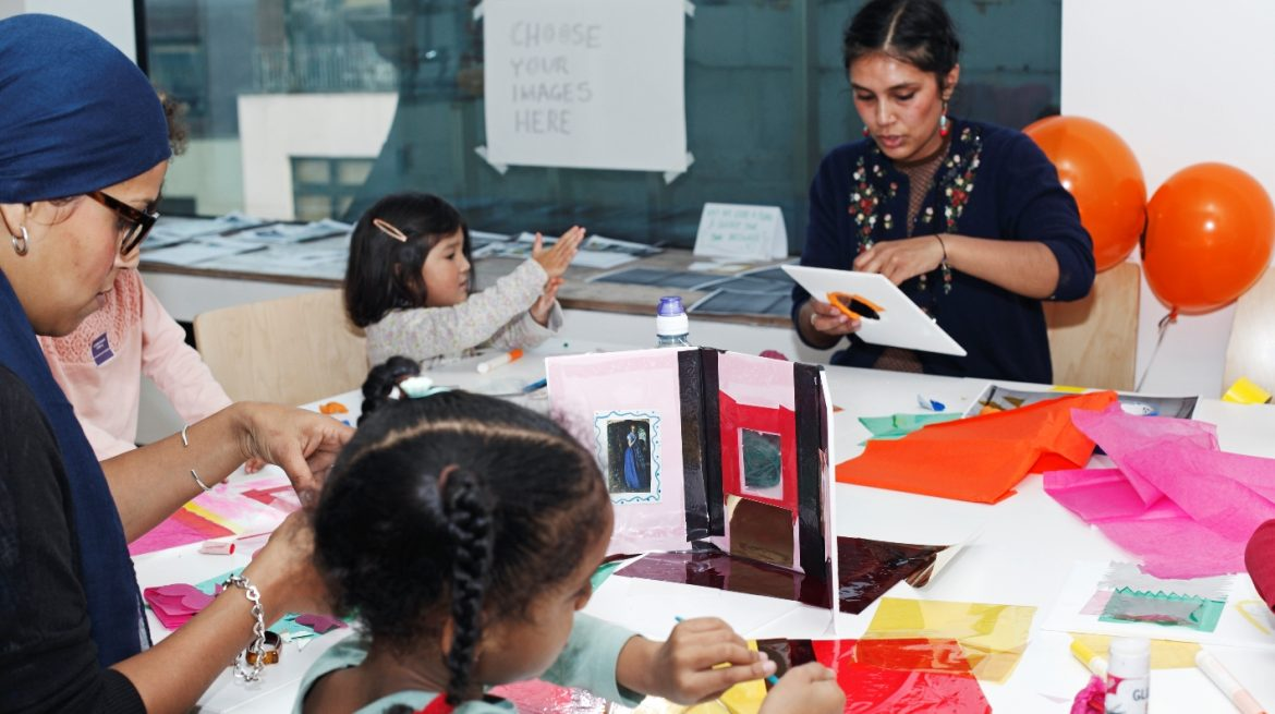 Picture of a family day workshop taking place