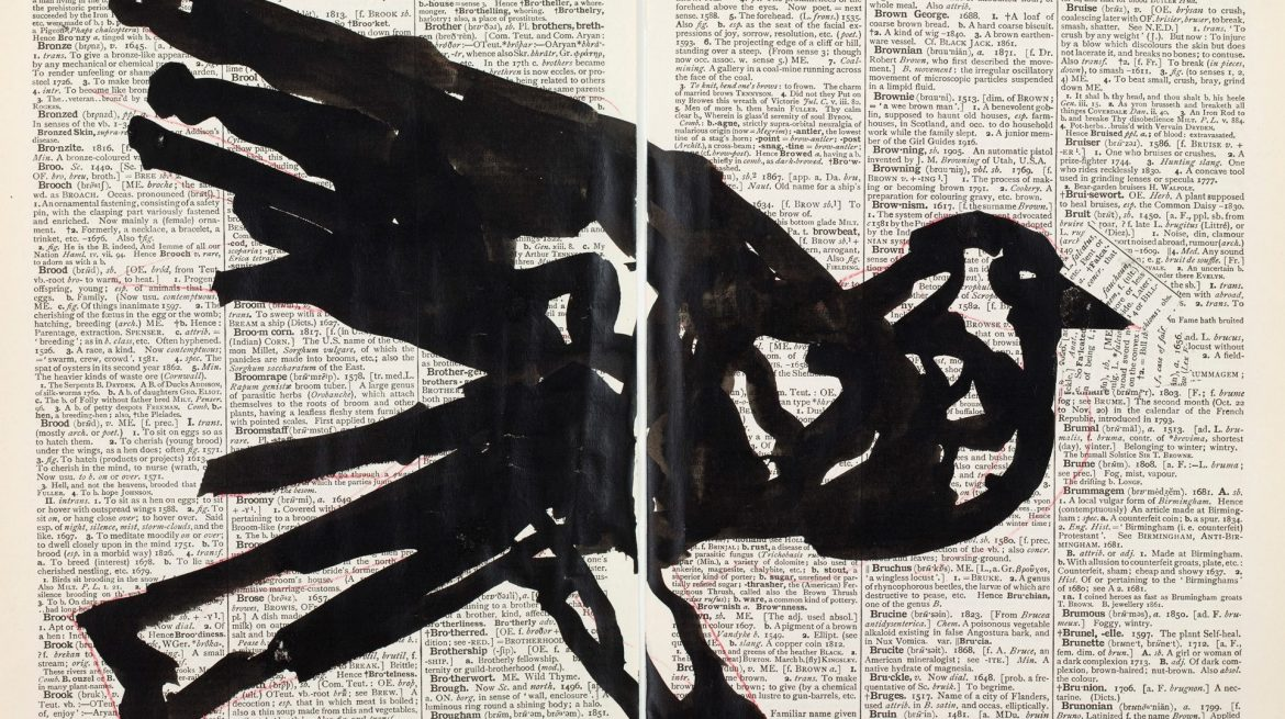 Second Hand Reading 2013 Flipbook film from drawings on single pages of the Shorter Oxford English Dictionary, HD video, colour, sound Courtesy William Kentridge, Marian Goodman Gallery, Goodman Gallery and Lia Rumma Gallery