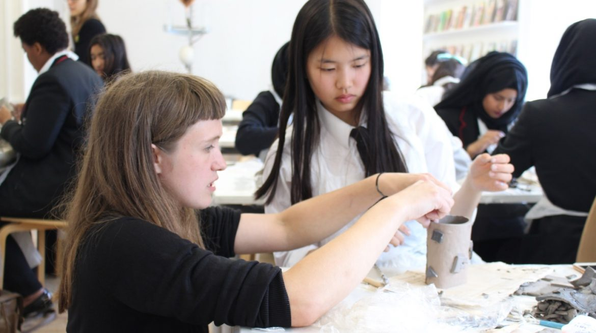 Clay Collective and Georges Green Secondary School Whitechapel Gallery Masterclass