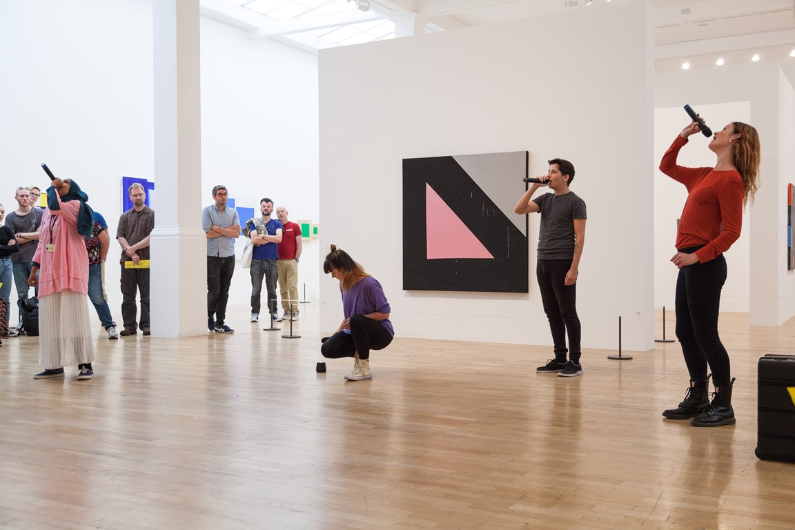 Image of performance in Whitechapel Gallery