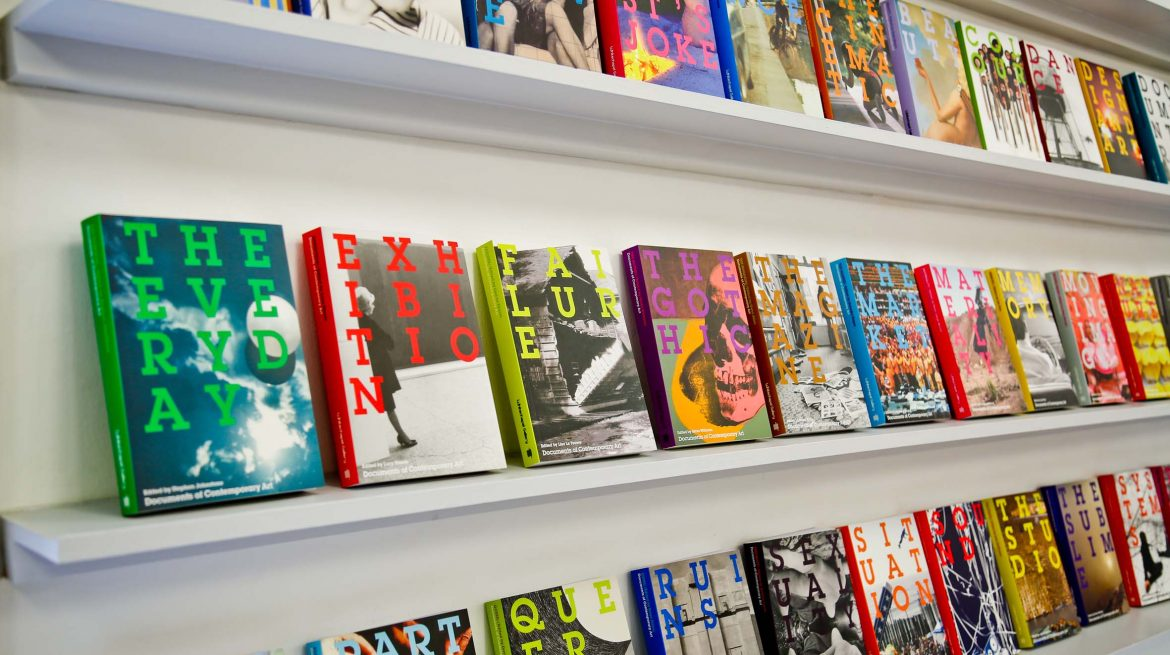 An image of the Documents of Contemporary Art range on display at the Whitechapel Gallery
