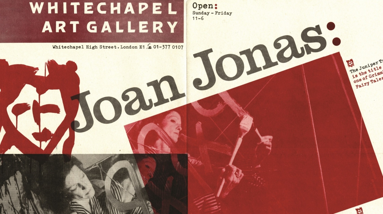 Joan Jonas: The Juniper Tree 1979 Poster Courtesy Whitechapel Gallery Archive