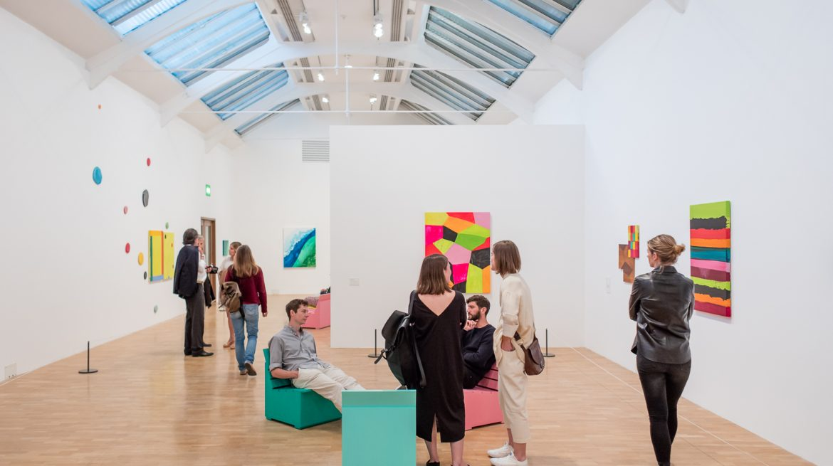 An image of visitors at the Whitechapel Gallery