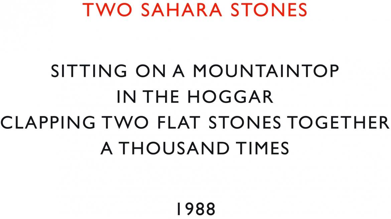 Richard Long - Two Sahara Stones, 1988