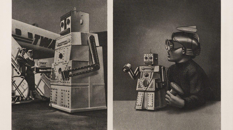 Eduardo Paolozzi, Le Robot Robert Voulait Aller a New York Mais Le Passenger Est Trop Lourd, 1971