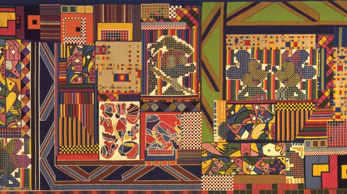 Eduardo Paolozzi, The Whitworth Tapestry 1967 Wool, Linen and Terylene 213 x 426 cm Courtesy The Whitworth, University of Manchester © Trustees of the Paolozzi Foundation, licensed by DACS