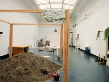 Installation view showing work by Anne Decock. 'This is the show and the show is many things', S.M.A.K., Ghent 1994. Image courtesy S.M.A.K., Ghent.