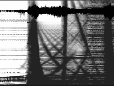 Spectogram Waveform, Aki, The Sound of Memory, Whitechapel Gallery