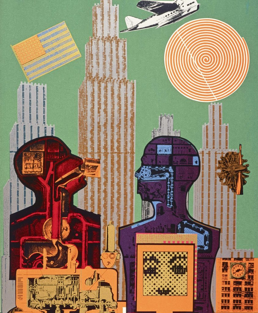Eduardo Paolozzi, Wittgenstein in New York (from the series As is When), 1965, Screenprint, 76 x 53.5 cm, Courtesy Scottish National Gallery of Modern Art: GMA 4366 K © Trustees of the Paolozzi Foundation, licensed by DACS