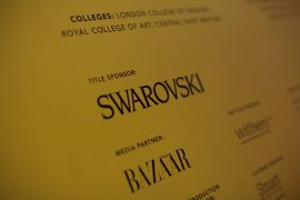 Swarovski Whitechapel Gallery Art Plus Fashion – Events Signage – Photo by Sophia Schorr-Kon (10)EDIT