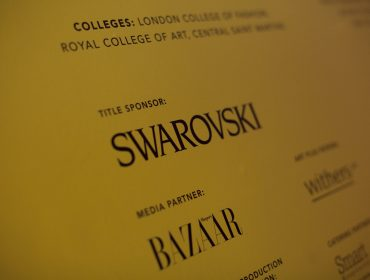 Swarovski Whitechapel Gallery Art Plus Fashion – Events Signage – Photo by Sophia Schorr-Kon (10)EDIT