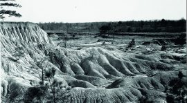 Walker Evans, Erosion, Mississippi, 1936 Silver gelatin print 25 x 20 cm, Library of Congress press photograph, Collection David Campany, Handful of Dust Whitechapel Gallery 2017