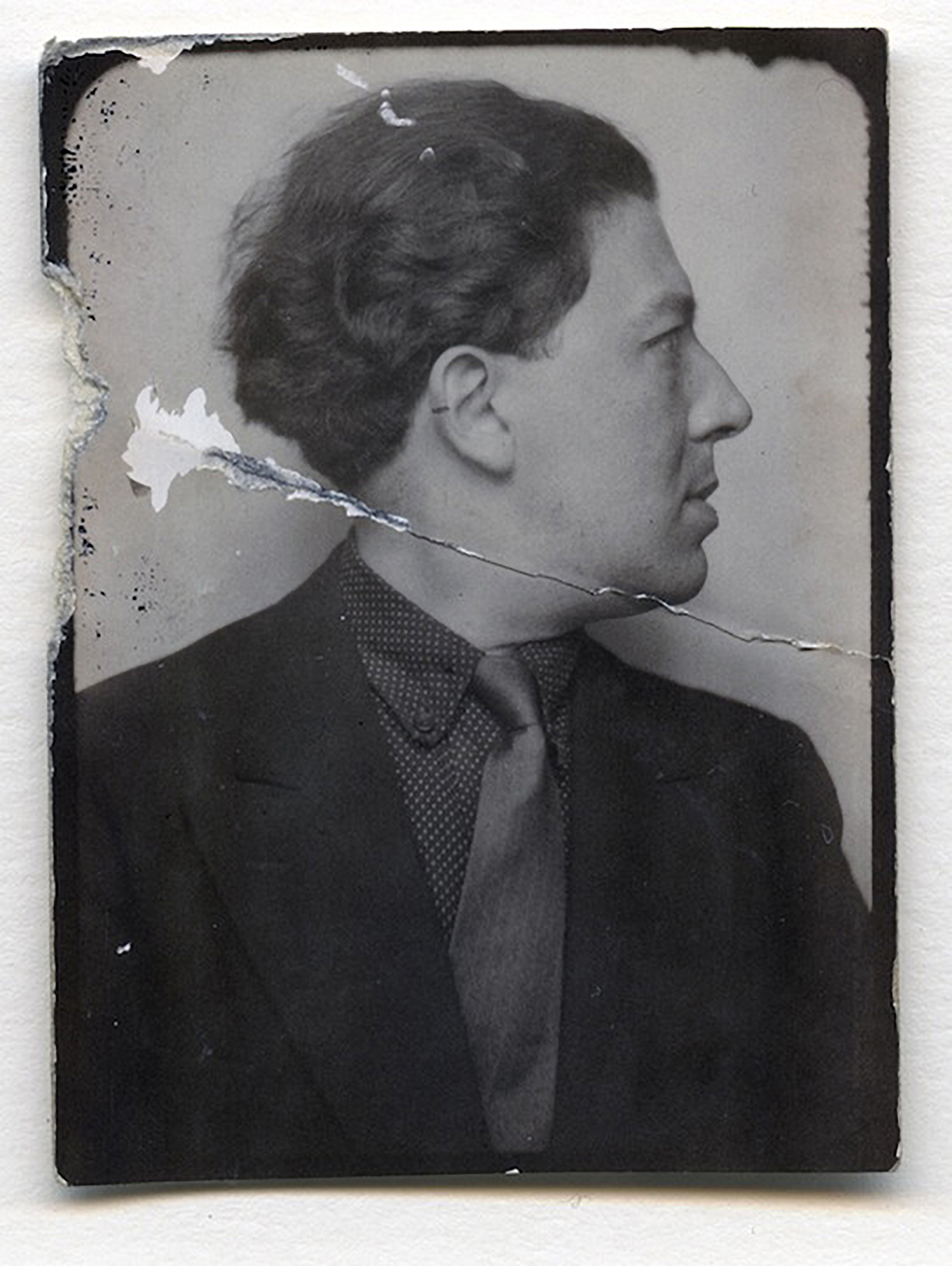 André Breton, Photomaton, André Breton, C 1929, Unique Photomaton, silver gelatin print, 5.1 x 3.8 cm ©ADAGP, Paris and DACS, London 2017