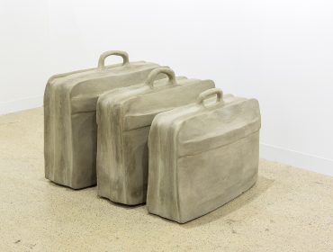 ISelf Collection: Rayyane Tabet Fossils (The Suitcase) 2014 From the Series: Five Distant Memories: The Suitcase, The Room, The Toys, The Boat and Maradona, 2006 ongoing Three suitcases encased in concrete 84 × 70 × 34 cm 90 × 75 × 34 cm 80 × 60 × 33 cm Image courtesy of Rayyane Tabet and Sfeir-Semler Gallery, Hamburg/Beirut