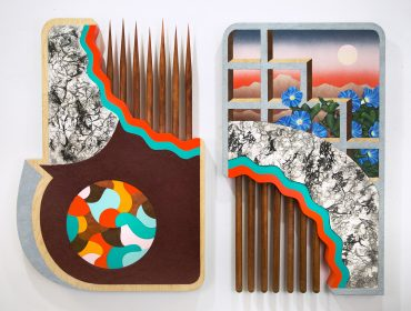 Christian-Ruiz-Berman-Rites-of-Passage-2017-Mixed-Media-Oil-and-Acrylic-58x31cm