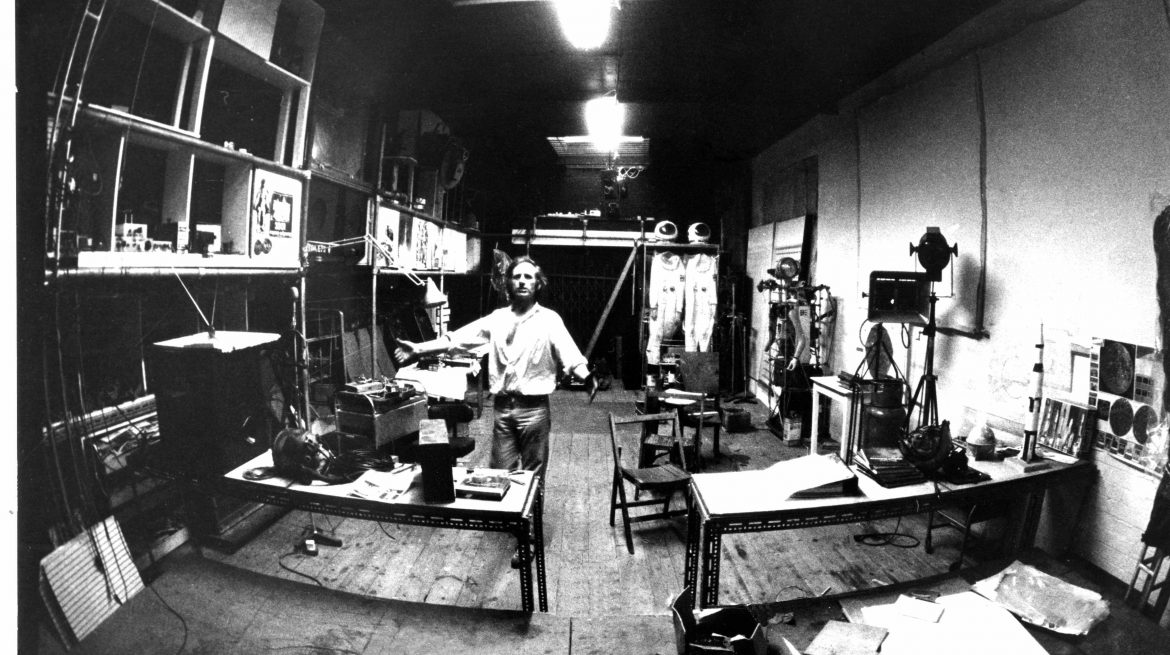 Bruce Lacey studio at Martello Street studios, early '70s, photo c. Inge...