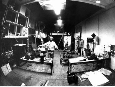 Bruce Lacey studio at Martello Street studios, early '70s, photo c. Inge…