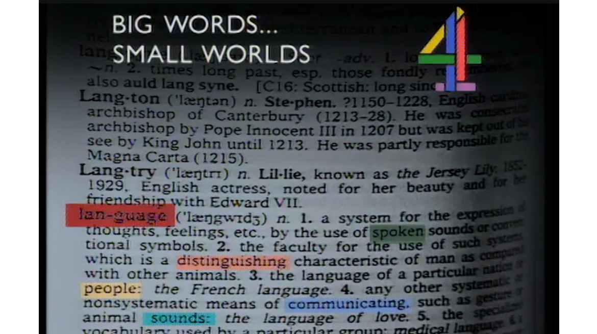 Big Words…Small Worlds, 1987_Web