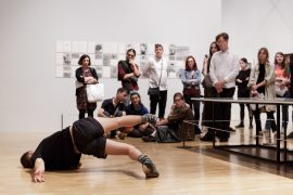 Performance documentation of Raising Dust at Whitechapel Gallery 15th July 2017