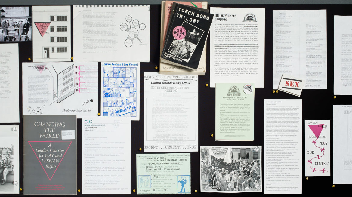 Queer Spaces: London, 1980s – Today 2019 Installation view Photograph Stephen White Courtesy Whitechapel Gallery