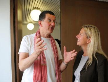 Iwona Blazwick with Antony Gormley