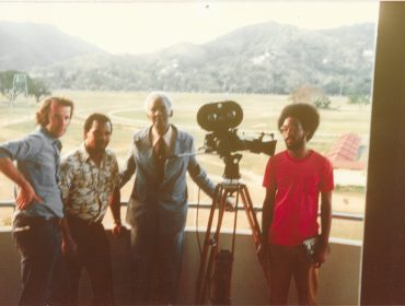 Dibb Pic 1 with CLR James for Beyond a Boundary 1976