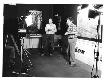 Dibb Pic 2 with John Berger filming Pig Earth 1979
